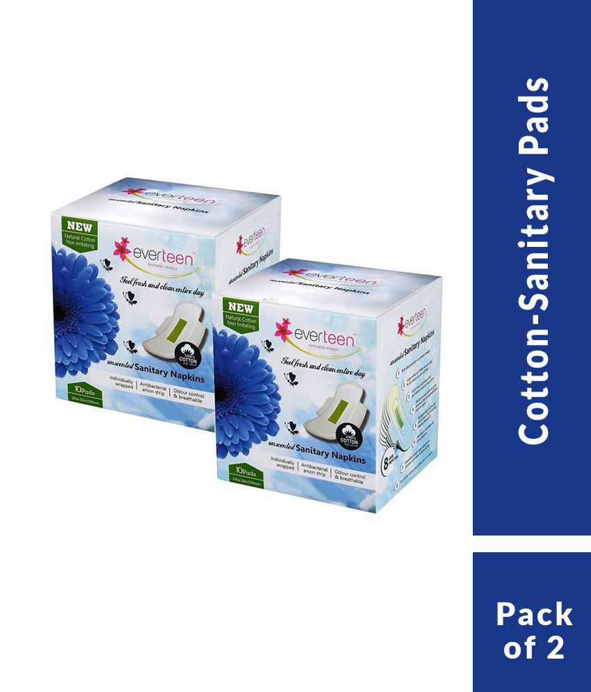Everteen 100% Cotton-Top XL 20 Sanitary Pads