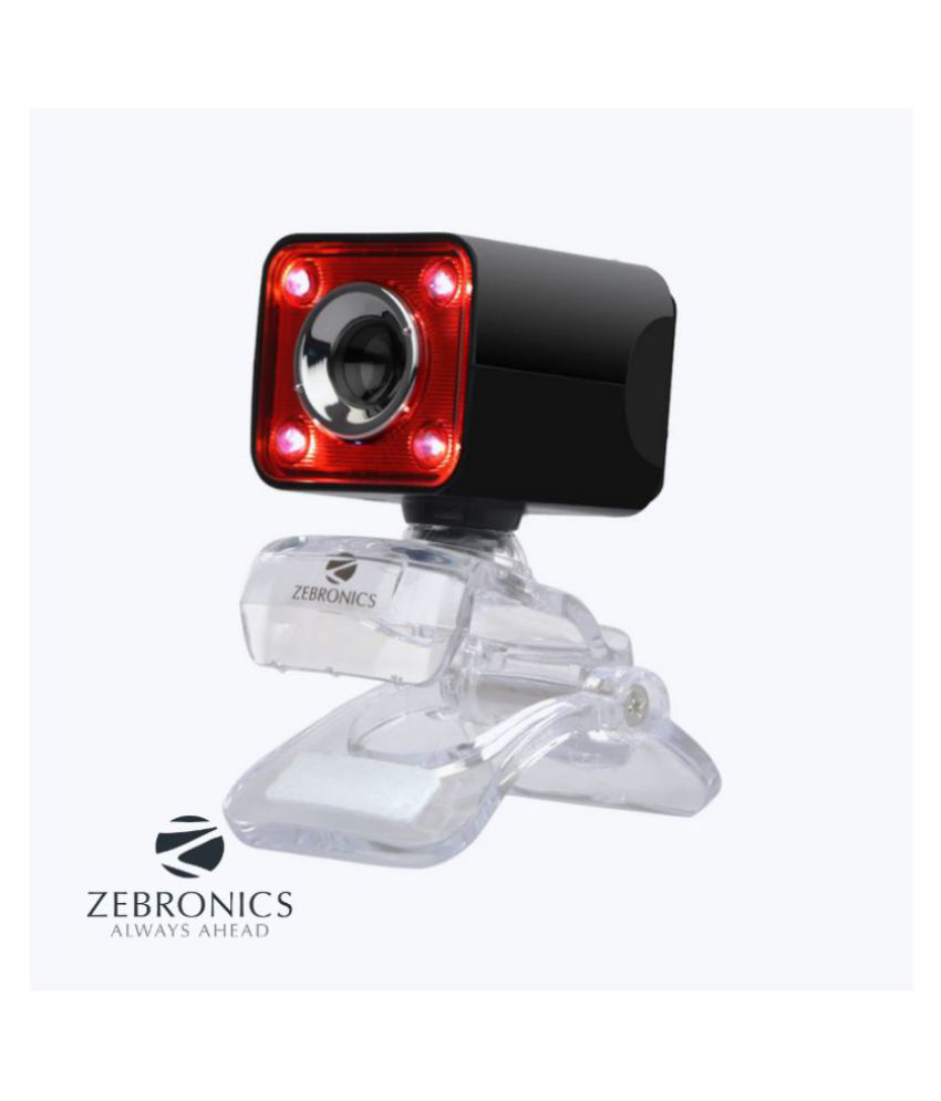 Zebronics ZEB-Crystal Pro 3 MP Webcam with 3P Lens, Night Vision, Built-in Mic