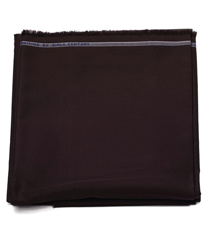Maharaja Brown 100 Percent Cotton Unstitched Pant Pc